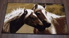 Modern Approx 4x2 60cm x 110cm Novelty range New Horse Design rugs Beiges/Browns